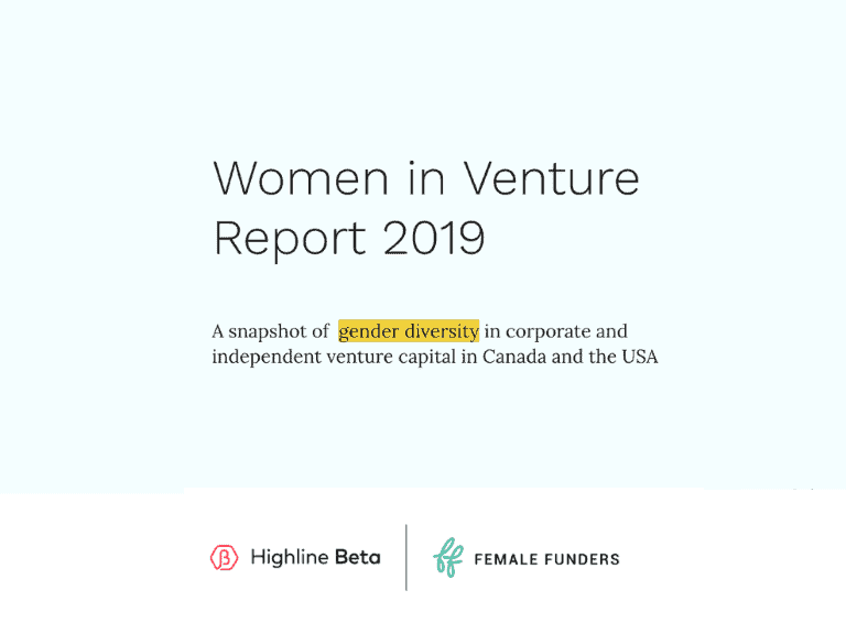 """Women in Venture"" Report from Highline Beta and Female Funders"