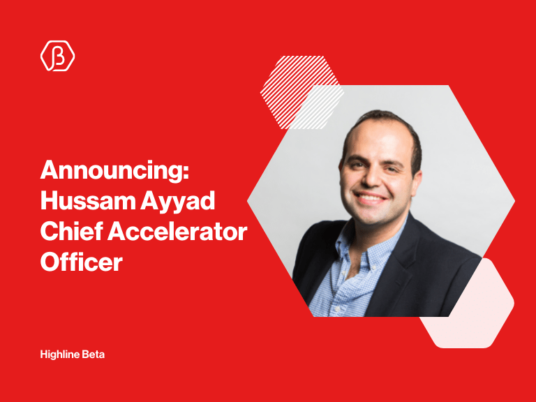 Hussam Ayyad Joins Highline Beta as Chief Accelerator Officer