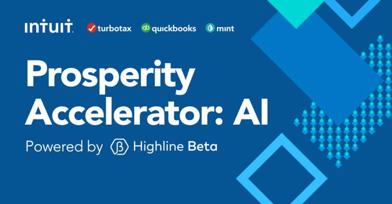 The Intuit Prosperity Accelerator launches a program for AI-focused startups to advance financial prosperity in North America